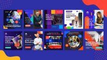 پروژه افترافکت مجموعه پست اینستاگرام Business Corporate Instagram Post