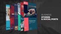 پروژه افترافکت مجموعه استوری اینستاگرام کسب و کار Business Stories
