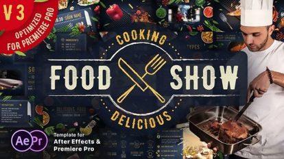 پروژه افترافکت شو آشپزی Cooking Delicious Food Show