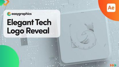 پروژه افترافکت نمایش لوگو تکنولوژی دیجیتال Elegant Tech Logo Reveal