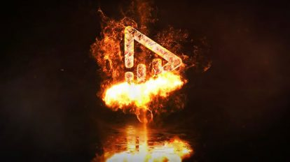 پروژه افترافکت نمایش لوگو آتشین Fire Logo Reveal