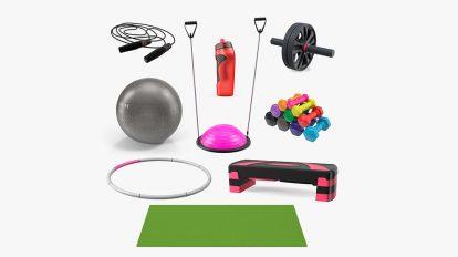 مجموعه مدل سه بعدی تجهیزات بدنسازی Fitness Equipment Collection