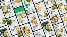 پروژه افترافکت مجموعه استوری اینستاگرام غذا Food Instagram Stories