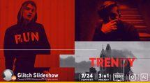 پروژه افترافکت اسلایدشو عکس Glitch Photo Slideshow