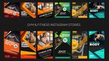 پروژه افترافکت پست و استوری تبلیغاتی بدنسازی Gym Fitness Promo