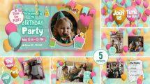 پروژه افترافکت اسلایدشو تولد Happy Birthday Invitation