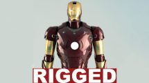 مدل سه بعدی مرد آهنی Iron Man Rigged