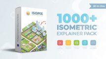 پروژه افترافکت مجموعه موشن گرافیک ایزومتریک Isopix Isometric Explainer Pack