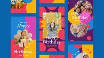 پروژه افترافکت استوری اینستاگرام تبریک تولد کودک Kids Birthday Party