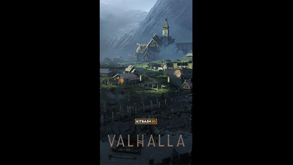 مجموعه مدل سه بعدی اجزای محیط اسکاندیناوی Kitbash3D Valhalla