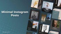 پروژه افترافکت مجموعه پست اینستاگرام مینیمال Minimal Instagram Posts
