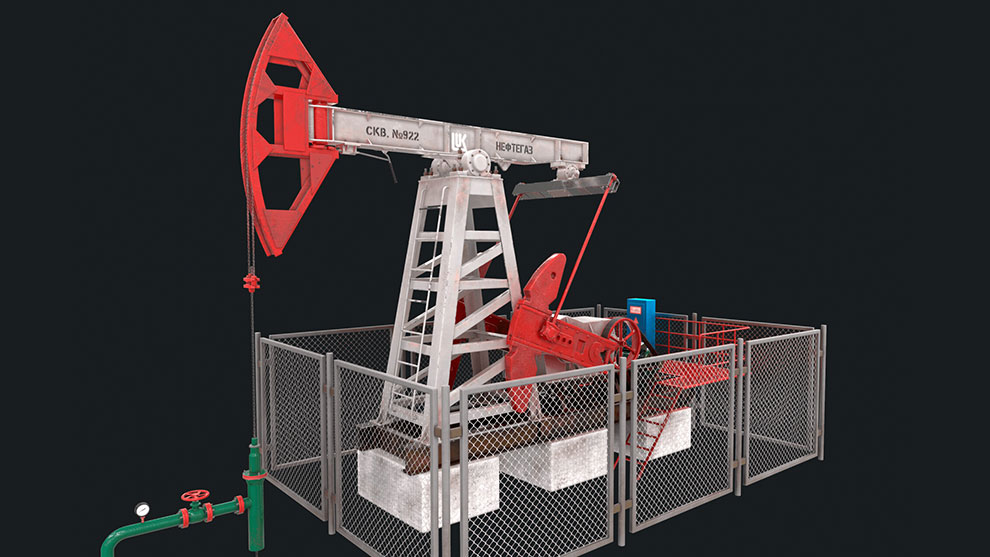 مدل سه بعدی پمپ نفت Oil Pump