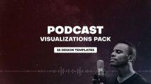پروژه افترافکت مجموعه ویژوالایزر پودکست Podcast Audio Visualization Pack