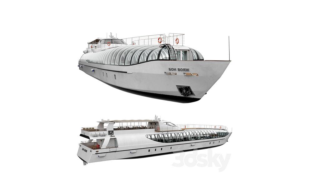 مدل سه بعدی کشتی تفریحی Radisson Royal Flotilla Yacht
