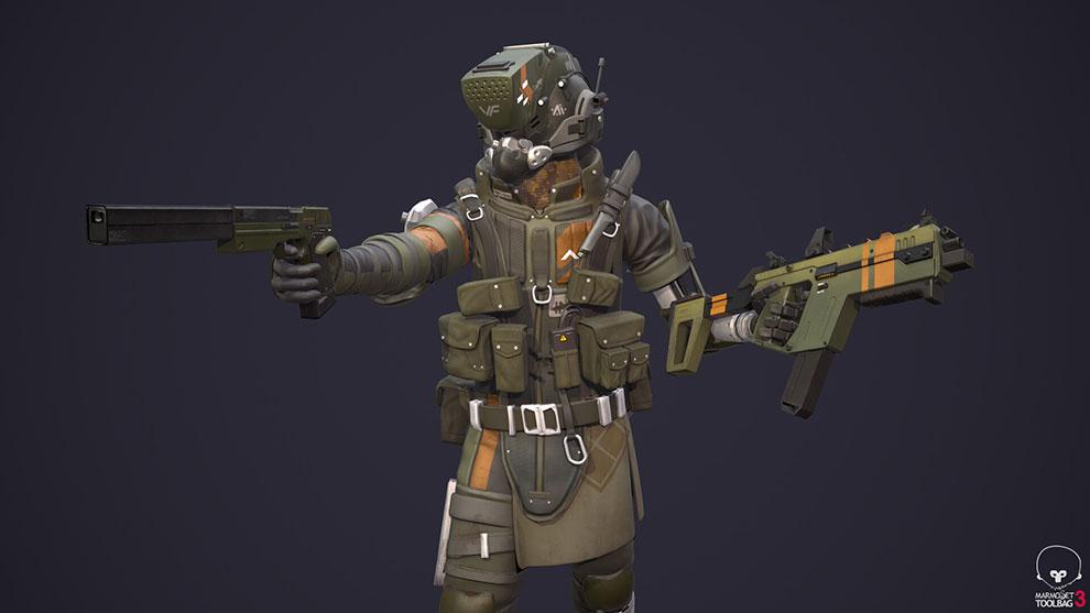 مدل سه بعدی کاراکتر پایلوت مهاجم Raider Pilot