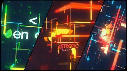 پروژه افترافکت نمایش لوگو با افکت گلیچ Retro Technology Glitch Logo