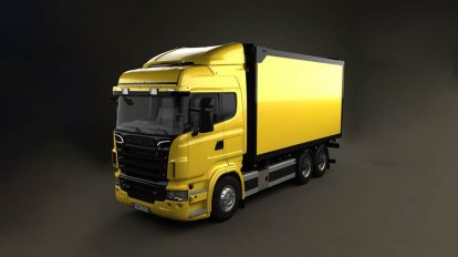 مدل سه بعدی کامیون اسکانیا Scania R 730 Box Truck 2010