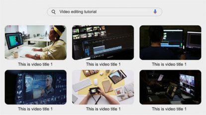 پروژه افترافکت اینترو جستجو وب Search The Web Video