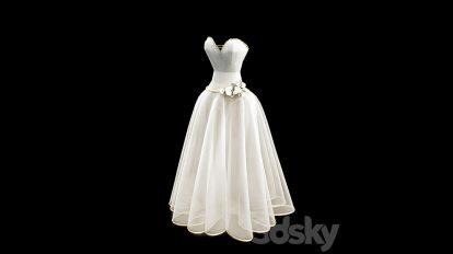 مدل سه بعدی لباس عروس Wedding Dress