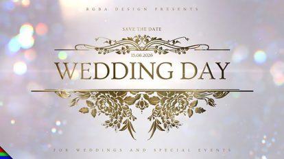پروژه افترافکت افتتاحیه روز عروسی Wedding