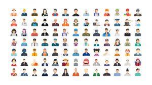 پروژه افترافکت مجموعه انیمیشن آیکون کاراکتر انسان Human Avatars Icons