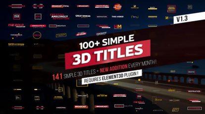 پروژه افترافکت مجموعه عناوین متحرک Simple 3D Titles