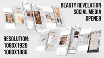 پروژه افترافکت افتتاحیه شبکه اجتماعی زیبایی Beauty Revelation Social Media Opener