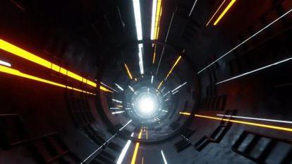 فوتیج موشن گرافیک تونل هایپرلوپ Abstract Sci-Fi Hyperloop Tunnel