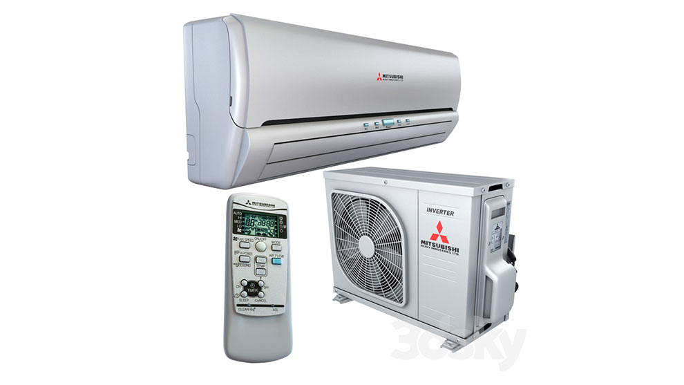 مدل سه بعدی کولر گازی میتسوبیشی Air Conditioning Mitsubishi