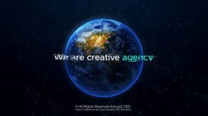 پروژه افترافکت اینترو با کره زمین Artistic Earth Intro