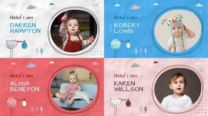 پروژه افترافکت اسلایدشو کودک Baby Album Slideshow