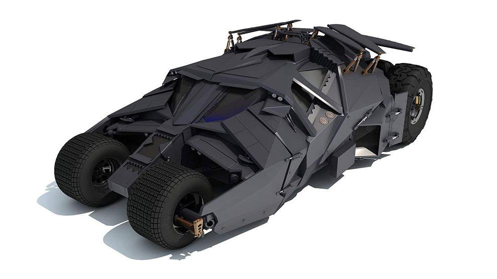 مدل سه بعدی ماشین بتمن Batman Tumbler Batmobile