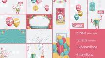 پروژه افترافکت اجزای ویدیو تولد Birthday and Party Kit
