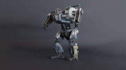 مدل سه بعدی ربات پلیس Brommens