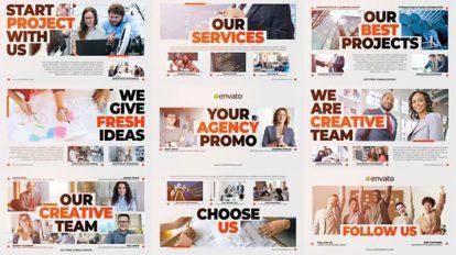 پروژه افترافکت تیزر تبلیغاتی آژانس کسب و کار Business Agency Promo