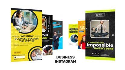 پروژه افترافکت پست و استوری اینستاگرام کسب و کار Business Instagram Post story
