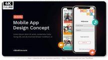 پروژه افترافکت تیزر تبلیغاتی اپلیکیشن Concept Design App Promo