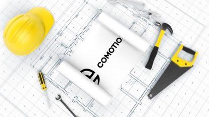 پروژه افترافکت نمایش لوگو روی طرح ساختمان Construction Blueprint Logo