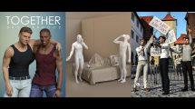 مجموعه ژست برای کاراکتر سه بعدی Daz3D Collection Poses 013