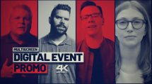پروژه افترافکت تیزر تبلیغاتی همایش دیجیتال Digital Event Promo