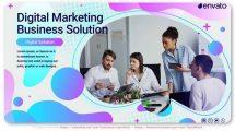 پروژه افترافکت تیزر تبلیغاتی بازاریابی دیجیتال Digital Marketing Business Solution