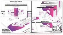 پروژه افترافکت تیزر تبلیغاتی وبسایت Dream Web Promo