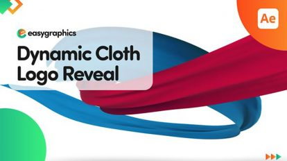 پروژه افترافکت نمایش لوگو با پارچه Dynamic Cloth Logo Reveal