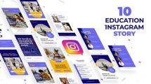 پروژه افترافکت مجموعه استوری اینستاگرام Education Instagram Stories