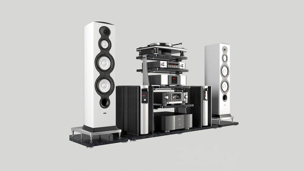 مدل سه بعدی سیستم پخش صدا Elite Hi-End Audio System