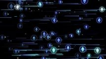 فوتیج موشن گرافیک رمز ارز Ethereum Crypto Particles 02