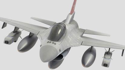 مدل سه بعدی هواپیما جنگنده F-16 Fighting Falcon