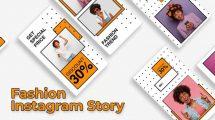 پروژه افترافکت مجموعه استوری اینستاگرام فشن Fashion Instagram Story