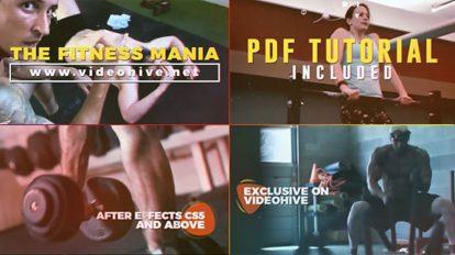 پروژه افترافکت تیزر تبلیغاتی باشگاه بدنسازی Fitness Mania
