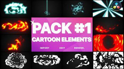 پروژه داوینچی المان گرافیکی برای ویدیو Flash FX Elements Pack 01